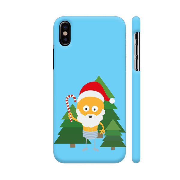 Genius Santa With Christmastree iPhone X Cover | Artist: Torben