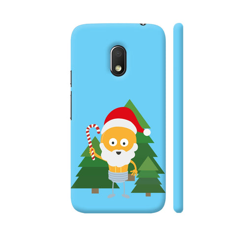 Genius Santa With Christmastree Moto G4 Play Cover | Artist: Torben