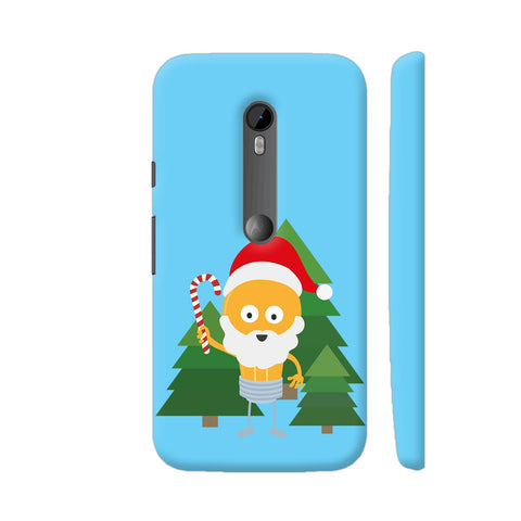 Genius Santa With Christmastree Moto G Turbo Cover | Artist: Torben