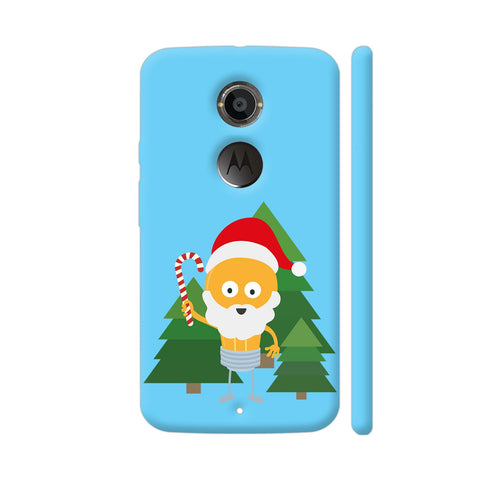 Genius Santa With Christmastree Moto X2 Cover | Artist: Torben
