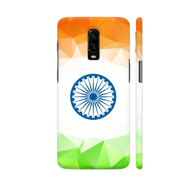 Geometric Indian Flag OnePlus 6T Cover | Artist: Astha