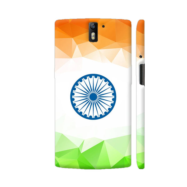 Geometric Indian Flag OnePlus One Cover | Artist: Astha