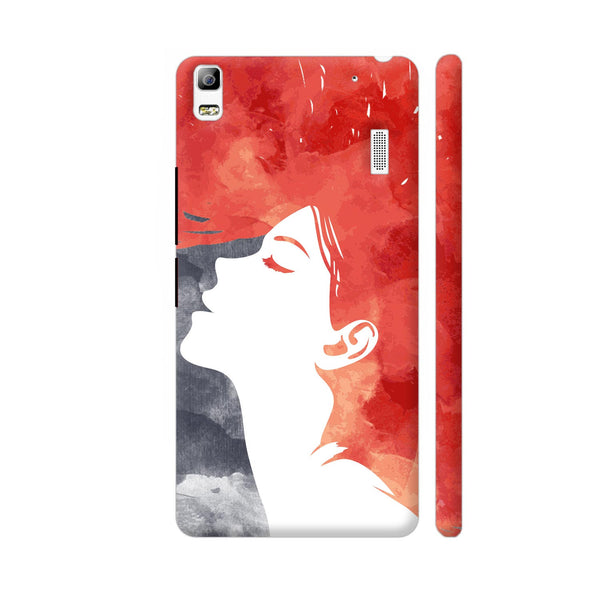 Girl Painted In Red Lenovo A7000 Cover | Artist: Abhinav