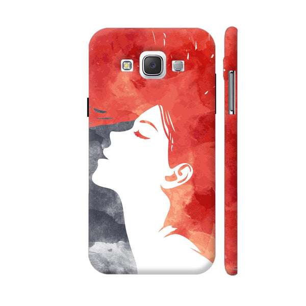 Girl Painted In Red Samsung Galaxy E5 Case