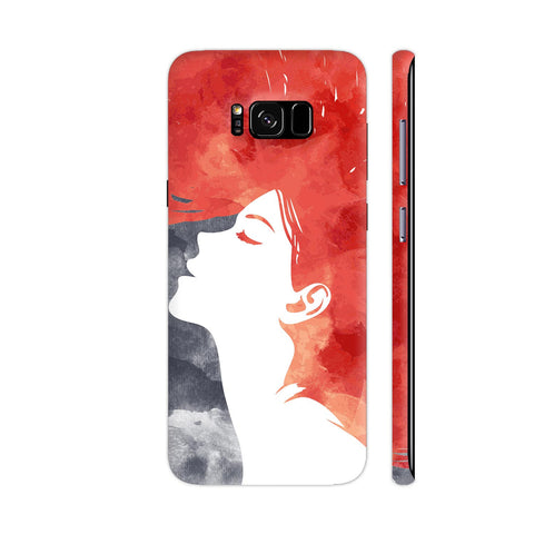 Girl Painted In Red Samsung Galaxy S8 Cover | Artist: Abhinav