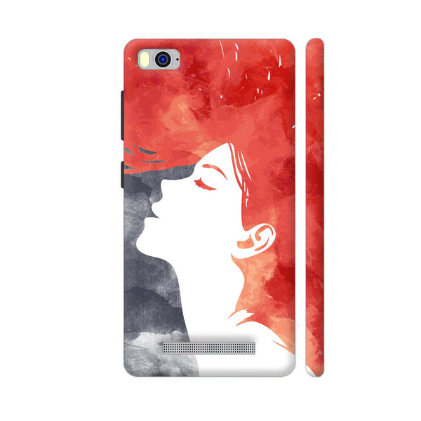Girl Painted In Red Xiaomi Mi 4i Cover | Artist: Abhinav