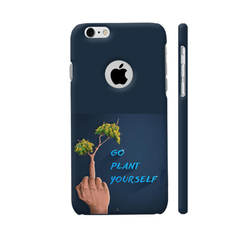 Go Plant Yourself Illustration iPhone 6 / 6s Logo Cut Cover | Artist: Ananthu Sankar