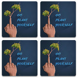 Go Plant Yourself Illustration Coaster (Set of 4)
