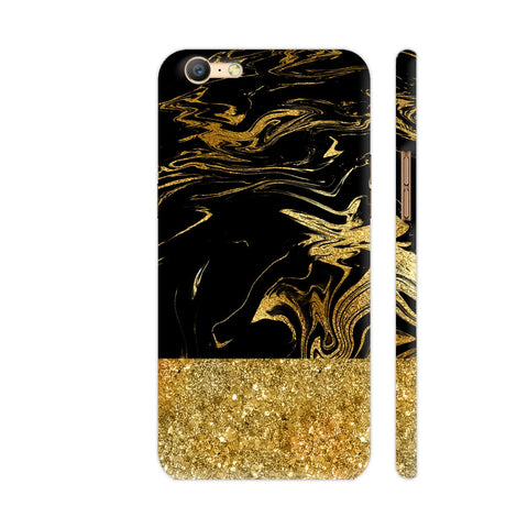 Gold And Black Marble Oppo A57 Cover | Artist: UtART