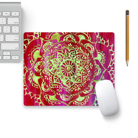 Gold And Glee Mouse Pad Black Base | Artist: Lazyscientist