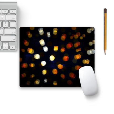 Gold Confetti Elegance Luxury On Black 2 Mouse Pad Black Base | Artist: UtART