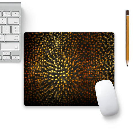 Gold Confetti Elegance Luxury On Black Mouse Pad Black Base | Artist: UtART