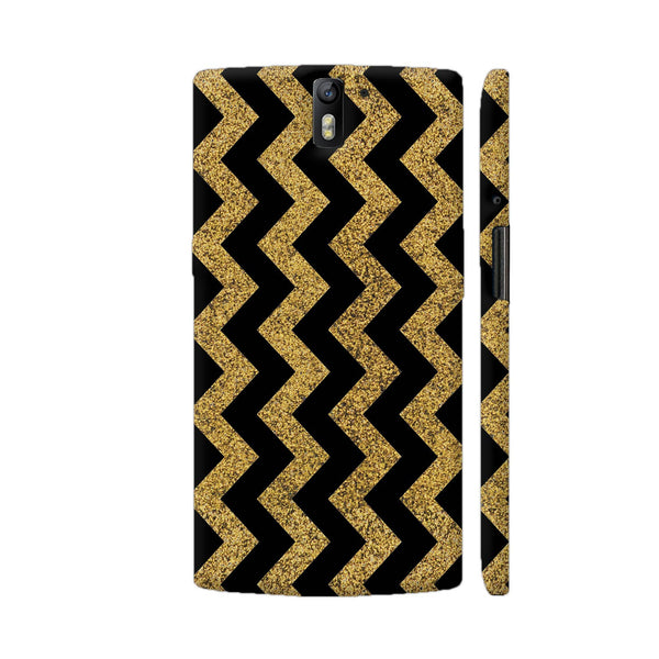 Golden Black Zigzag OnePlus One Cover | Artist: Abhinav