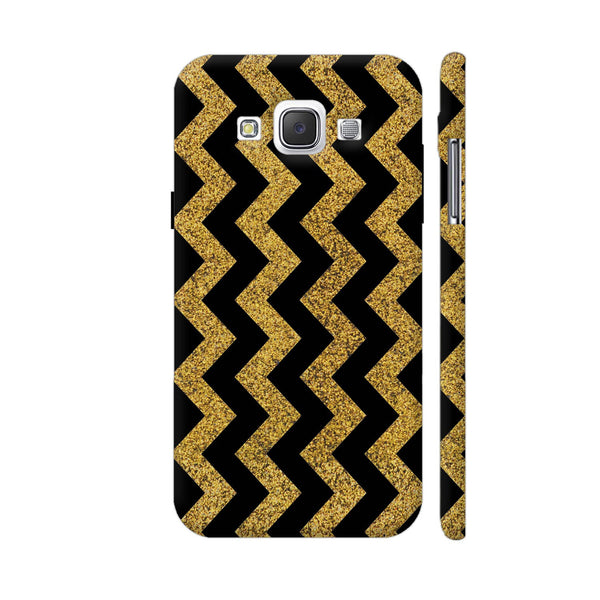 Golden Black Zigzag Samsung Galaxy E5 Case