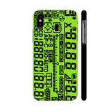 Green LCD Display iPhone X Cover | Artist: 3ZDesigns
