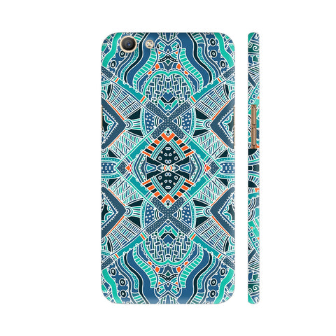 Green Turquoise Aztec Pattern Oppo F3 Cover | Artist: Astha