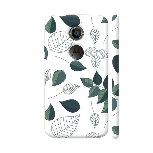 Green White Leaves Moto X2 Cover | Artist: Abhinav