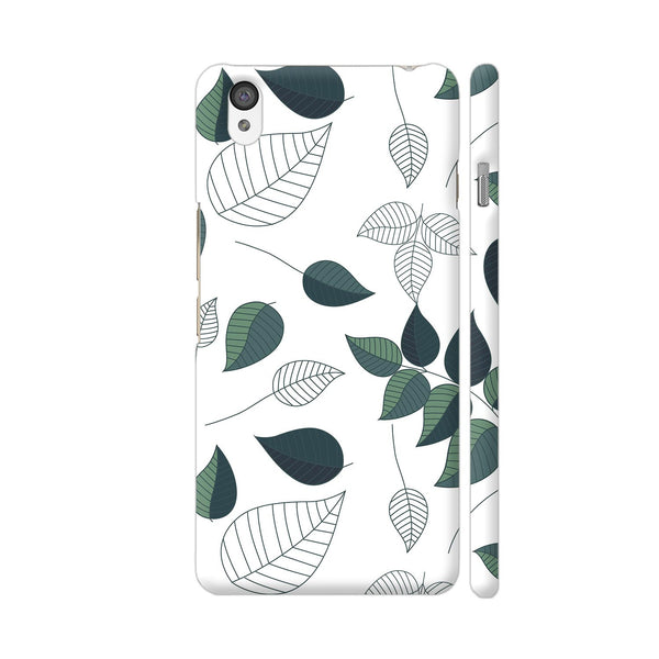 Green White Leaves OnePlus X Cover | Artist: Abhinav