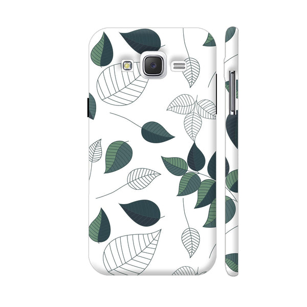 Green White Leaves Samsung Galaxy J5 Case