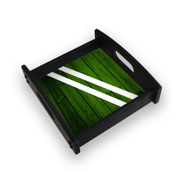 Green Wood Square Wooden Serving Tray (Ebony)