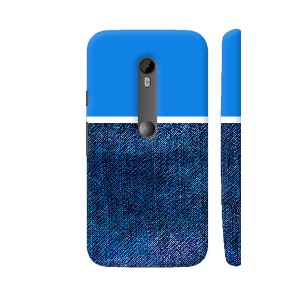 Half Denim Moto G Turbo Cover | Artist: Astha
