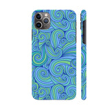 Hand Drawn Blue Waves iphone 11 Pro Cover | Artist: Abhinav