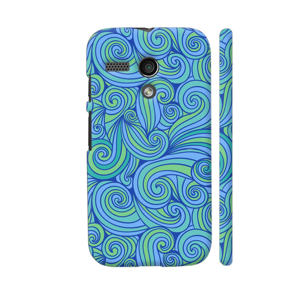 Hand Drawn Blue Waves Motorola Moto G1 Case
