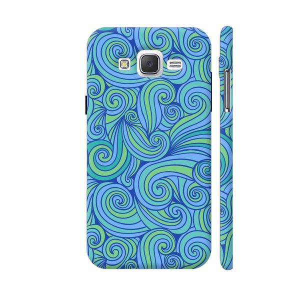 Hand Drawn Blue Waves Samsung Galaxy J5 Case
