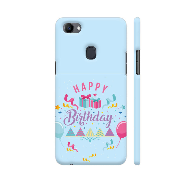 Happy Birthday In Blue Oppo F7 Cover | Artist: Astha