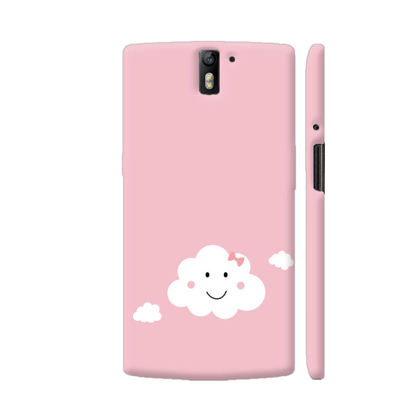 Happy Cloud With Pink Ribbbon OnePlus One Cover | Artist: Torben