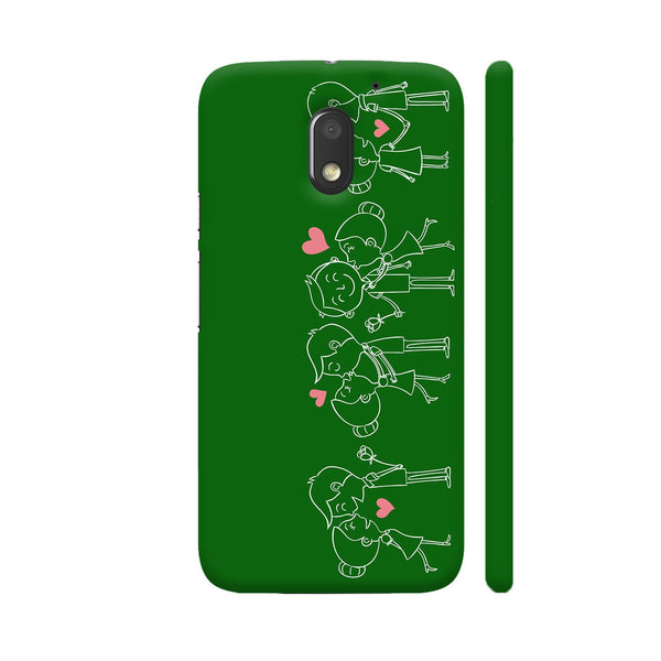 Happy Couple On Green Motorola Moto E3 / Moto E3 Power Case