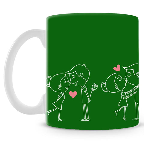 Happy Couple On Green Mug