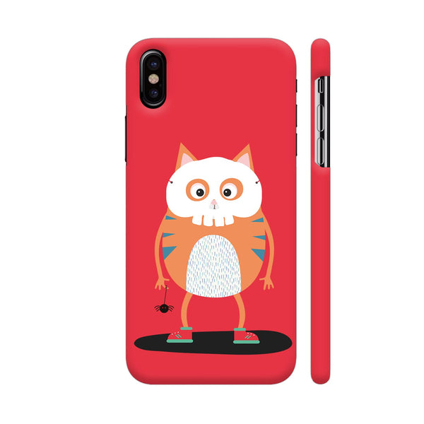 Happy Halloween Skull Cat 2 iPhone X Cover | Artist: Torben