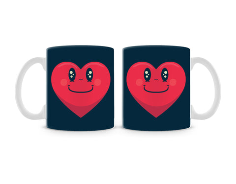 Happy Heart Mug (Set of 2)