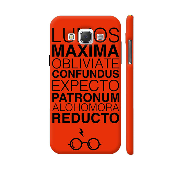 Harry Potter Spells Red Samsung Galaxy E5 Case