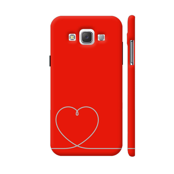 Heart Line On Red Samsung Galaxy E5 Case