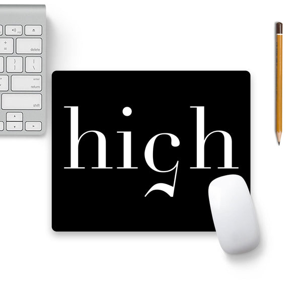High 5 Black Mouse Pad Black Base | Artist: Abhinav