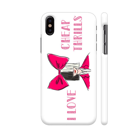 I Love Cheap Thrills iPhone X Cover | Artist: Disha