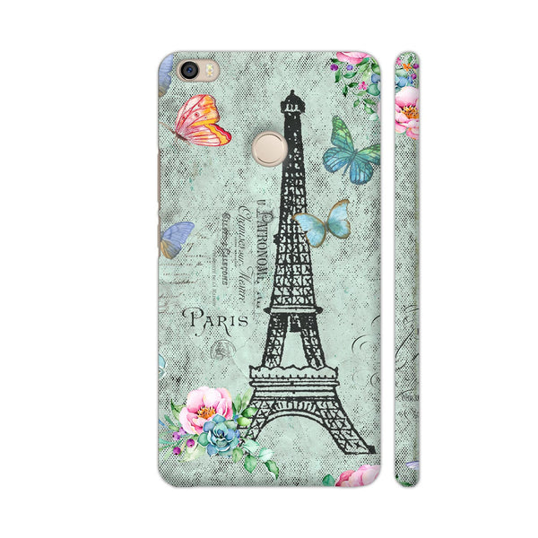 I Love Paris Flowers And Eiffel Tower Xiaomi Mi Max Cover | Artist: UtART