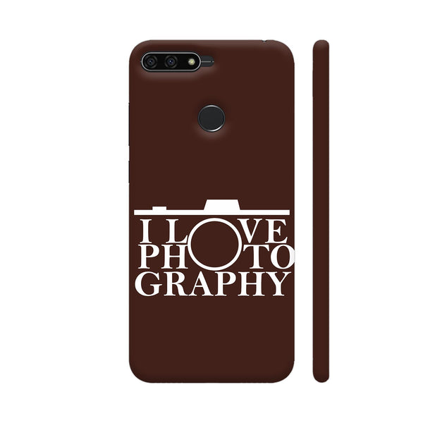 I Love Photography In Brown Honor 7A Cover | Artist: Astha