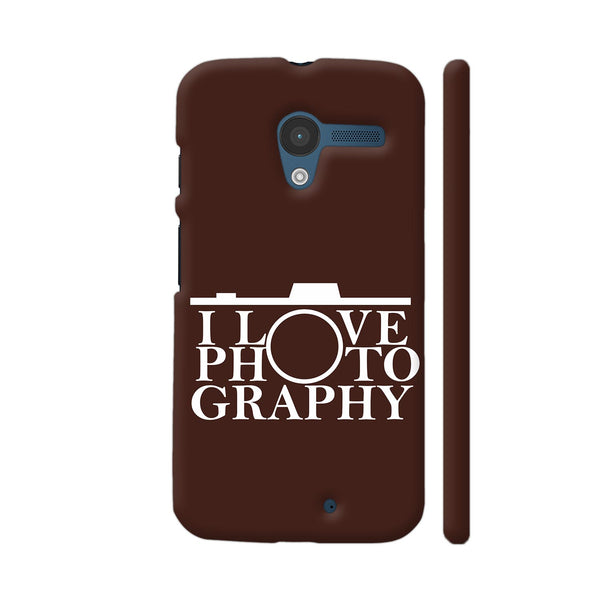 I Love Photography In Brown Moto X1 Cover | Artist: Astha