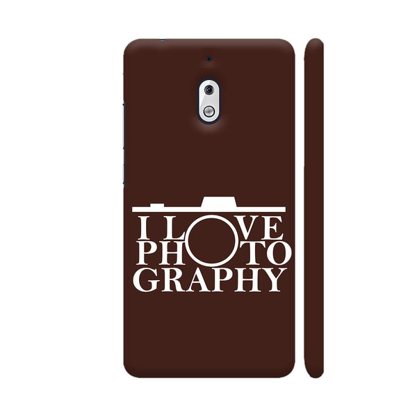 I Love Photography In Brown Nokia 2.1 Cover | Artist: Astha