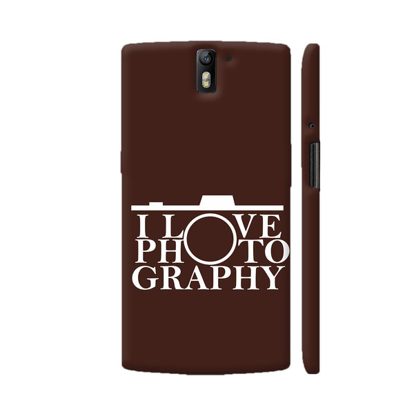 I Love Photography In Brown OnePlus One Cover | Artist: Astha