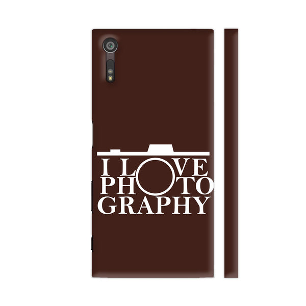 I Love Photography In Brown Xperia XZ / XZs Cover | Artist: Astha