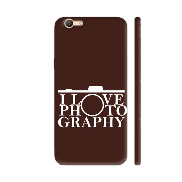 I Love Photography In Brown Vivo Y55s Cover | Artist: Astha