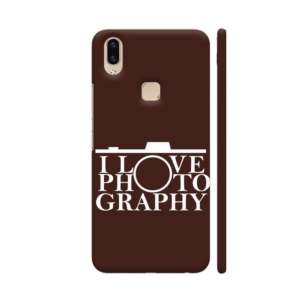 I Love Photography In Brown Vivo V9 Youth Cover | Artist: Astha