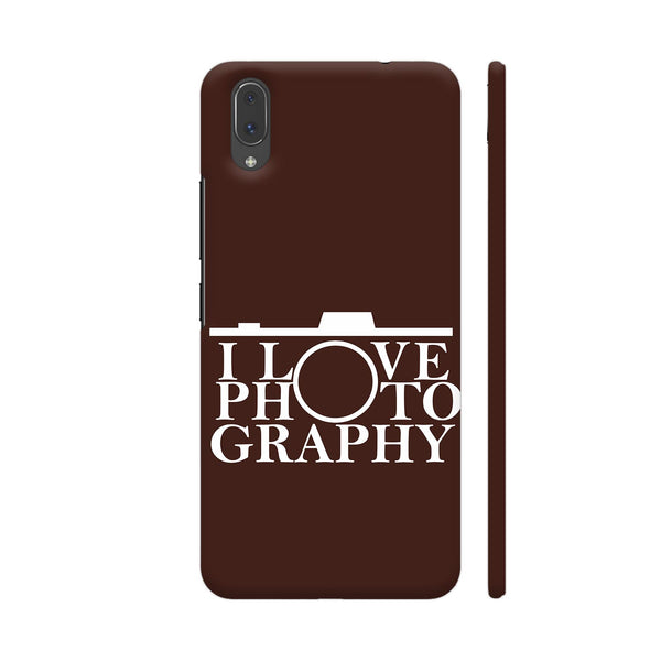 I Love Photography In Brown Vivo X21 Cover | Artist: Astha