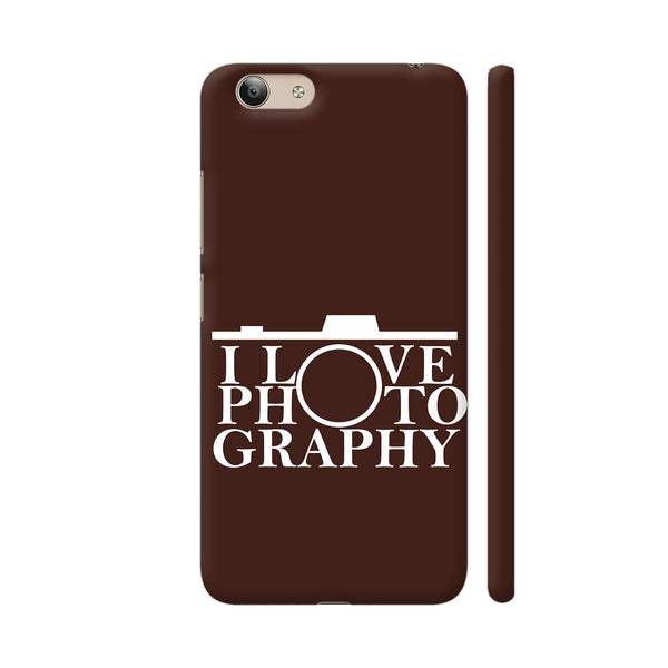 I Love Photography In Brown Vivo Y53 Cover | Artist: Astha