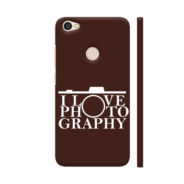I Love Photography In Brown Redmi Y1 Cover | Artist: Astha