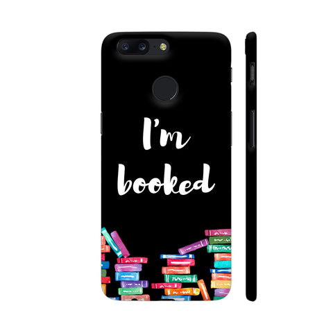 I am Booked On Black OnePlus 5T Cover | Artist: Abhinav